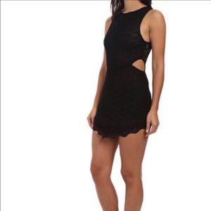 Intimately Free People Lace Cutout Dress Scalloped